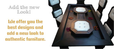 Buy stylish Dining Tables - We offer you a new look in your authentic Indian Furniture
