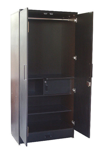 Buy 2 door and 3 door wardrobes. This 2 door wardrobe with a single drawer provide ample storage space. Make wardrobes for custom sizes at best prices in Delhi, Gurgaon and Noida.
